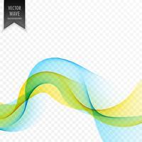 Fondo de vector de onda suave amarillo y azul