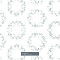 floral shapes pattern design in white background