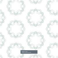 blommiga former mönster design i vit bakgrund