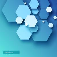 blue background with hexagonal shapes in 3d style
