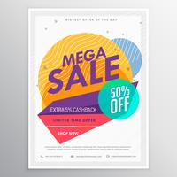 amazing sale discount brochure flyer template card for your prom