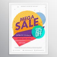 erstaunliche Verkauf Rabatt Broschüre Flyer Vorlage Karte für Ihren Abschlussball