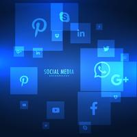 blue backgorund with social media icons