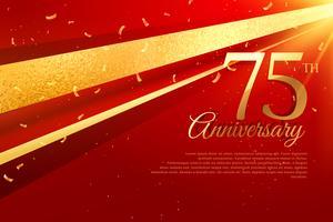 Modèle de carte de célébration du 75e anniversaire