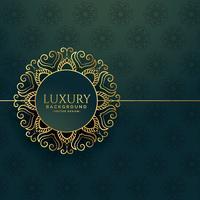 elegant golden ornamental mandala decorative frame vintage backg