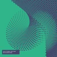 Fondo de patrón abstracto ondulado haltone