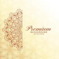 elegant mandala decoration premium background