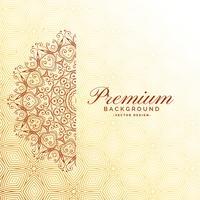 elegante mandala decoratie premium achtergrond