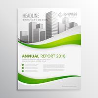 grüne Immobiliengeschäft Broschüre Vorlage Design Vektor Illus
