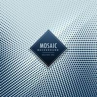fundo de vetor de mosaico de meio-tom azul