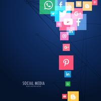 social media icons in blue background