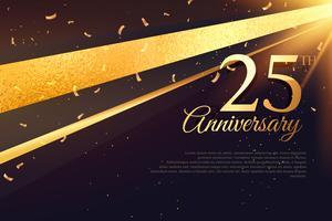 Modèle de carte de célébration du 25e anniversaire