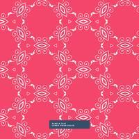 roter Hintergrund mit Blumenmuster