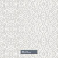 Fondo de patrón de flor gris