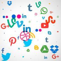 fond d'icônes de médias sociaux