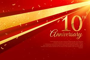 Modèle de carte de célébration 10e anniversaire