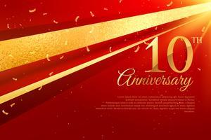 10. Jubiläumsfeier Kartenvorlage