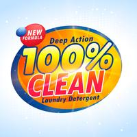 Modelo de design de produto de embalagem de detergente criativo