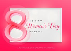 happy women's day 8th march celebration background