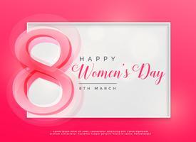 8. März-Feierhintergrund der glücklichen Frauen Tag