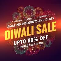 projeto de bandeira de oferta de venda de diwali