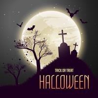 Grab in vom Mond, gruseliger Halloween-Hintergrund