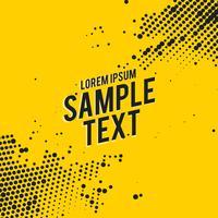Fondo abstracto amarillo con efecto de semitono negro