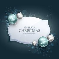 élégant fond de carte de voeux fête Noël avec de vrais