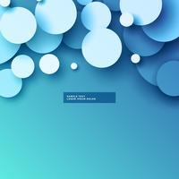 blauwe achtergrond met 3D-cirkels ontwerp