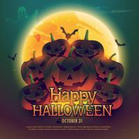 lycklig halloween bakgrundsaffisch