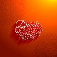 Bela diwali saudação fundo
