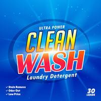 modelo de design de embalagem para detergente para a roupa