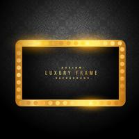 beautiful vintage golden luxury frame on black background