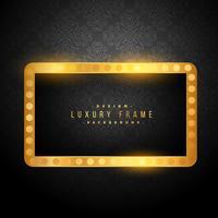 cadre magnifique luxe doré vintage sur fond noir