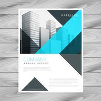 modello di progettazione brochure blu pulito