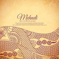 Vintage Henna Mehndi Hintergrund
