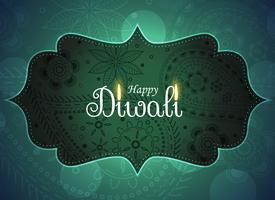 beautiful ethnic happy diwali greeting background