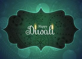 beautiful ethnic happy diwali greeting background