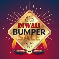 bumper diwali verkoopaanbieding en kortingspresentatiesjabloon