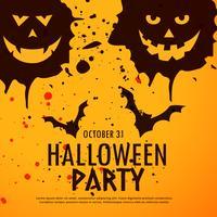 Halloween-feest grunge achtergrond