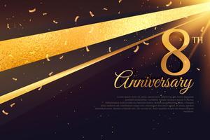 Modèle de carte de célébration 8e anniversaire