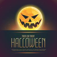 ond halloween spöke på månen bakgrund
