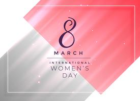 Diseño de tarjeta del día de la mujer feliz 8 de marzo
