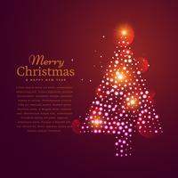 bellissimo design di albero di Natale fatto con più citcles