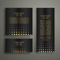 Plantilla de diseño de banner de estilo de semitono oro moderno