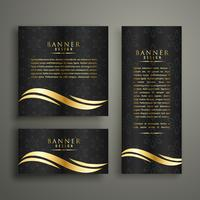 premium luxury golden banner template design