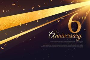 Modello di carta celebrazione 6 ° anniversario