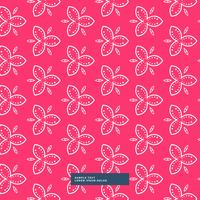 beautiful pink flower pattern background