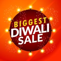 beautiful diwali sale template with light bulbs