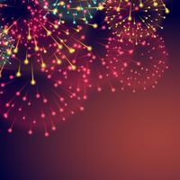sfondo di fuochi d'artificio per il festival di diwali